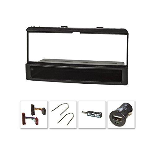 tomzz Audio 2415-027 Radioblende (Set+USB-Lader) für Ford Focus Fiesta Escort Cougar Puma Mondeo Transit mit Ablagefach
