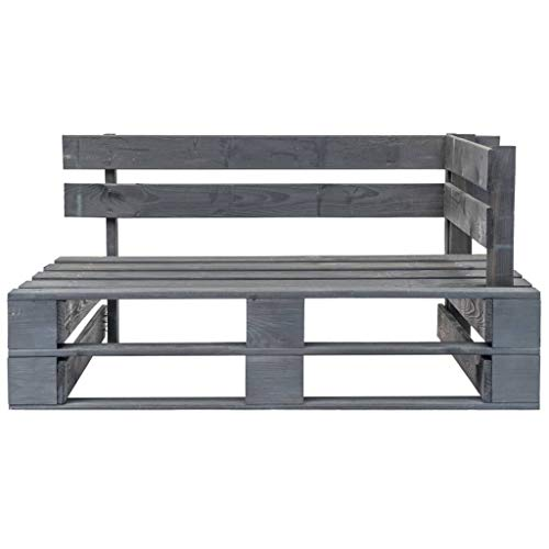 Tidyard Garden Pallet Corner Bench Wooden Euro-pallet Seat for Patio Indoor/Outdoor can fit with Cushions