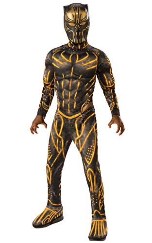 Kinder Panther Kostüm Black - Premium Killmonger Black Panther Marvel Kostüm Kinder Jungen