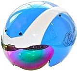 Rennradhelm G14Aero von C Originals –Fahrradhelm für Zeitfahren, Triathlon und mehr, 12 Farben + 2 Visiere, C ORIGINALS G14, weiß / blau, S/M 54cm-58cm