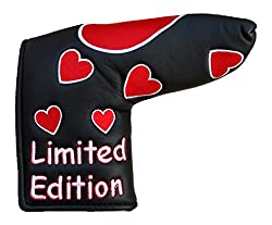 Red Love Heart Golf Blade Putter Cover Will Fit Ping Anser Or Scotty Cameron Putter