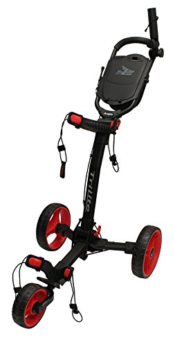 Axglo Trilite Chariot de Golf Mixte Adulte, Noir/Rouge
