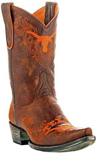 NCAA Texas Longhorns 25,4cm Gameday Damen Stiefel, Damen, Messing, 5 B (M) US - Distressed Braun Cowboy Stiefel