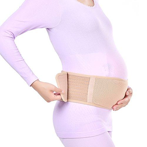HEALIFTY Bauchgurt Schwangerschaft - Breathable verstellbares Bauchband - One Size Rückenstütze - Unterer Rücken, Beckenstütze (Khaki)
