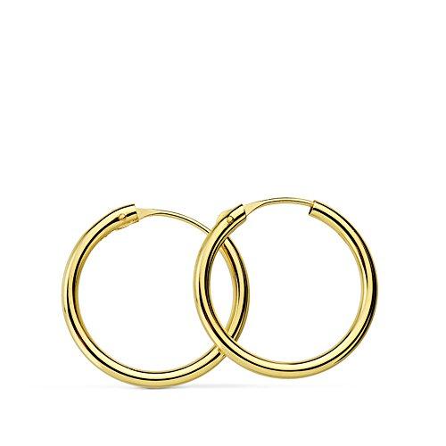 f24bd843dfc2 ... 5 - Aros oro amarillo 18k Morgana 16mm - Pendientes de mujer