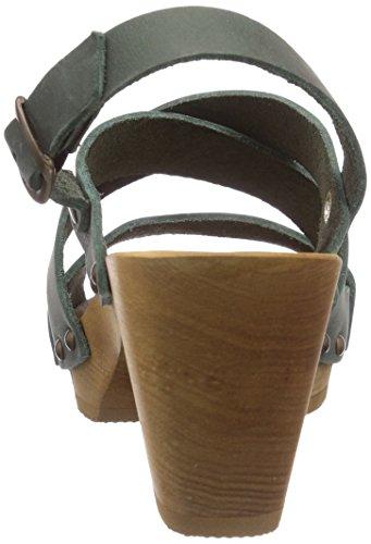 SanitaOlympia Square Flex Sandal - Sandali aperti Donna Verde (Grün (khaki / 43))