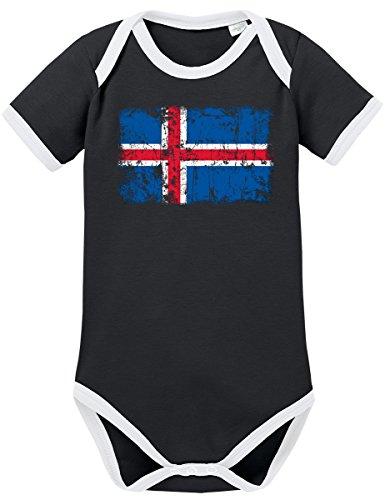 TSP Griechenland Vintage Flagge Fahne Kontrast Baby Body 86 92 ()