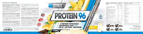 Frey Nutrition Protein 96 Vanille Dose, 1er Pack (1 x 750 g) - 2