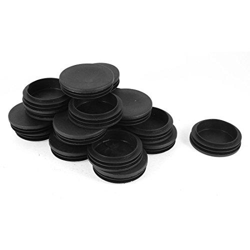 30 Stück 60mm Od rund Schwarz Plastik Abdeckkappen Ende Kappen Rohr Einsatz DE de
