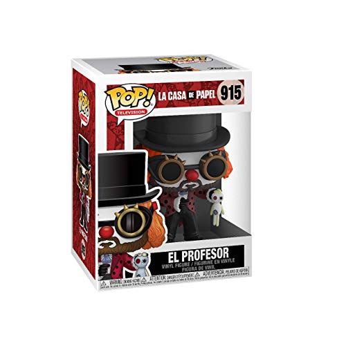 Funko-  Pop TV: La Casa de Papel- Professor O Clown Collectible Figure,  Multicolor (44196)