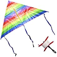 Rainbow Kite Outdoor Toys For Children Kids Children's Kite Stunt Kite 120 cm + Th