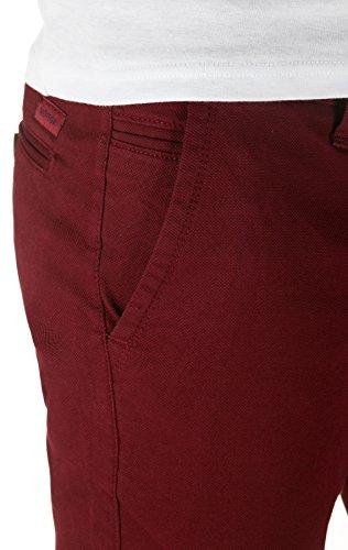 WOTEGA Herren Chino Hose Pattern - Slim - Chinohose gemustert Rot (Tawny Port 191725)