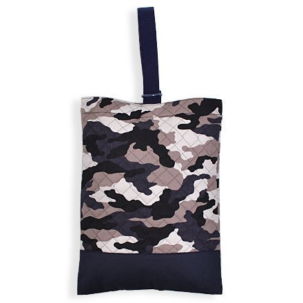 Kids shoes case of hand made sense (quilting) camouflage gray x Ox navy blue made in Japan N3229100 (japan import)
