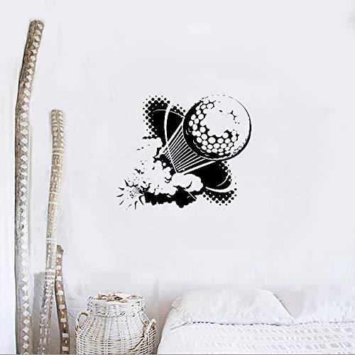 unst Muster Wandtattoos Wandbild Teens Raumgestaltung Dekor Golf Sport Hobby Ball Club Wandaufkleber DIY Abnehmbare Wand L49cmx42cm ()