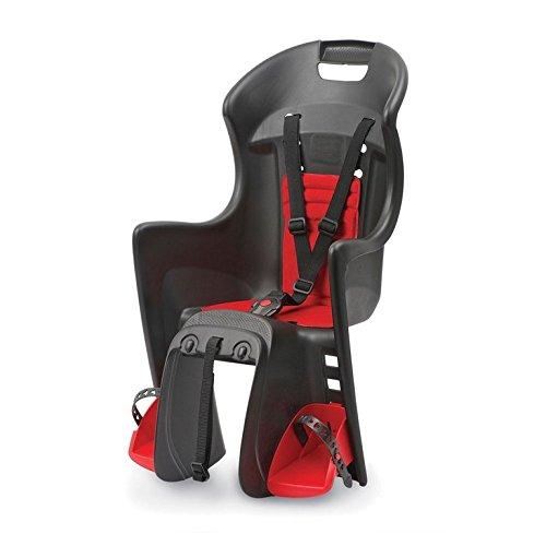 Comercial Tridegar 18630702 - Portabebé de Ciclismo, Color Negro y Rojo