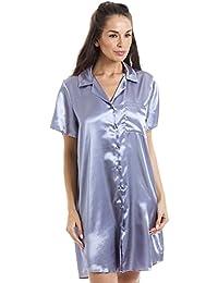 Chemise de nuit longueur genoux - satin - violet