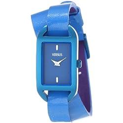 Versus Ibiza Blue Dial Blue Leather Ladies Armbanduhr SGQ030013