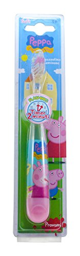Mr White Jr Zahnbürste Lichterkette, Motiv Peppa Pig – Lot de 2 (Jr Kinder-zahnbürste)