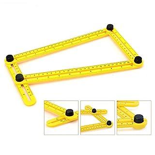 Multi-Winkel-Messgerät & Angleizer Template Lineal für Handwerker-Erbauer-Handwerker Multi-Winkel-Messlineal Full Metal Multi-Winkel-Messlineal