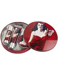 Lip Smacker Coca Cola Kit pour les lèvres : baume/stick/gloss dans une boîte en métal rétro