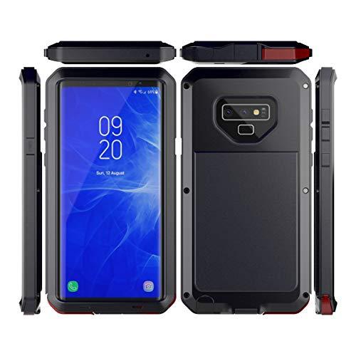 Samsung Galaxy Note 9 Wasserfeste Hülle, Lifeepro IP68 Zertifiziert Wasserdicht Ultra Dünn Outdoor Handy Hülle Stoßfest Staubdicht Staubdicht Kratzfestes Gehäuse Full Body Robuste Schutzhülle mit Displayschutz Unterwasser Tasche Case für Samsung Galaxy Note 9 Schwarz