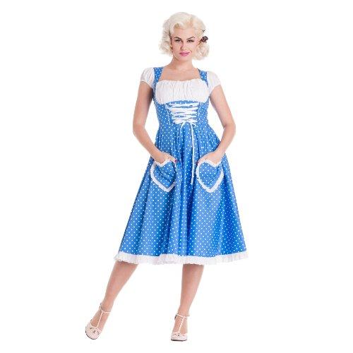 Hell Bunny dell'abito ottobre DRESS blue Blu