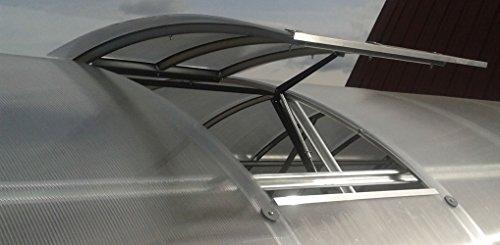Zusätzliches Dachfenster für die Gewächshäuser - Farbe: Aluminium