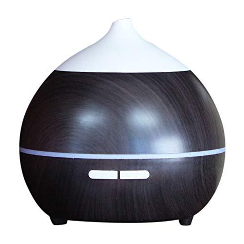 HoSayLike Air Aroma ätherisches Öl Diffusor Led Aroma Aroma Aromaterapia Luftbefeuchter, 7 Farben Difusor De Luz Nocturna Con Enchufe USB (Schwarz)