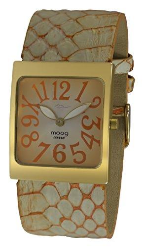 Moog Paris Fantasia Women's Watch with Orange Dial, Orange Strap in Genuine Snake Skin - M41482-103