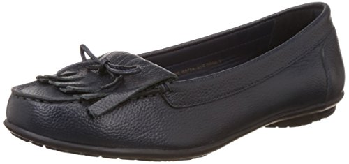 f43329aebb Hush puppies 5549940 Womens Ceil Mocc Kl Blue Leather Ballet Flats- Price  in India