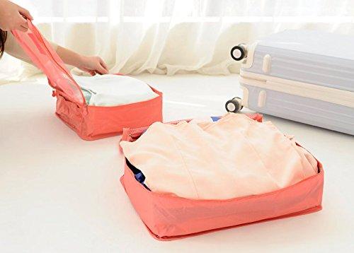 QUS bolsa de almacenamiento, bolsa de viaje, equipaje, ropa bolsa, ropa de viaje, viaje de negocios, trajes de ropa interior bolsa de recogida de, 6, green dots, Prints six sets