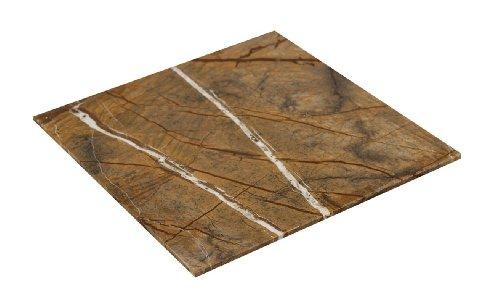 Massive Marmor Servierplatte rechteckig Größe: 40x40x1,5cm vielseitig verwendbar -