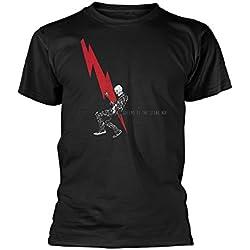 Desconocido Unknown - Camiseta - Manga Corta - para Hombre Negro Negro (X-Large