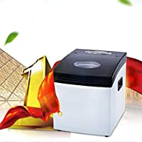 Fabricadora de Hielo Mini máquina de Hielo Comercial máquina de Hacer Hielo Listo Dentro de 8-10 Minutos, Pantalla LCD, Toque, Poco Ruido, Apagado automático, Monitor LCD,