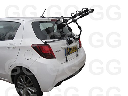 Coche 3bicicleta ciclo portaequipajes para bicicleta trasero montado en la puerta para Toyota Yaris 2011en adelante