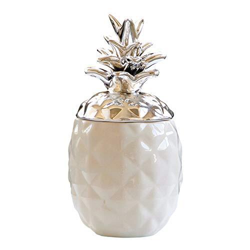 big face cat Vaso per Ananas in Ceramica, Decorazione Vaso, Grande Vaso - Argento, Misura Libera