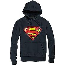 Superman Sudadera Capucha Logo negra talla M