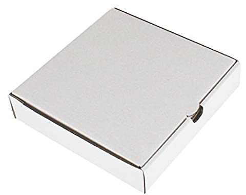 10 x PIZZA BOXES ☆ TAKEAWAY FAST FOOD CAKE PACKAGING WHITE ☆ SIZE : 8 INCH