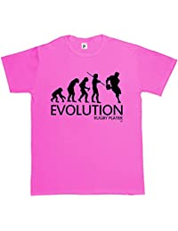 Evolution of a Rugby Player Mens Cotton Short Sleeve T-Shirt Various Colours Available - Sizes S M L XL 2XL XXL 3XL XXXL
