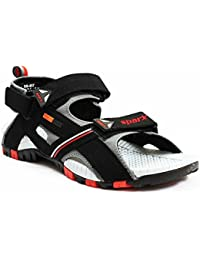 Sparx Men's Black And Red Sandals & Floaters (SFG-457)