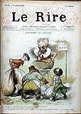 RIRE (LE) [No 12] du 26/01/1895 - L'HOMME DU DEVOIR - DESSIN DE C. LEANDRE. AUTOUR DU BILLARD - DESSIN DE JOSSOT. DAUMIER TOULOUSE LAUTREC NOIR ET BLANC