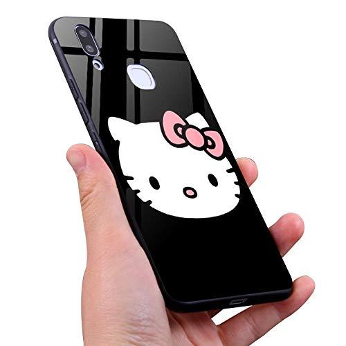 Für iPhone XS Max Hülle, Hello Kitty Handy Shell Cartoon Hello Kitty Glas Shell All Inclusive