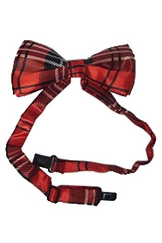 MA ONLINE Herren Fliege Mehrfarbig * Einheitsgröße Gr. Einheitsgröße, Red Tartan Bow Tie (Tartan Tie Bow)
