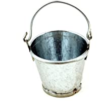 MyTinyWorld Dolls House Miniature Metal Bucket With Movable Handle