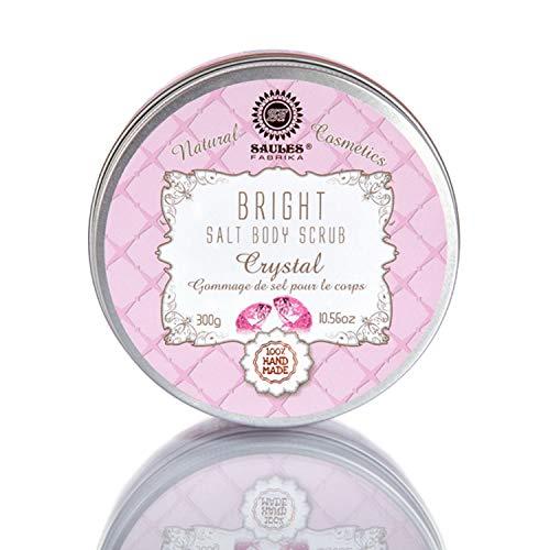 Meersalz - Body Scrub Körperpeeling für sanfte Reinigung, seidige weiche Haut für alle Hauttypen gegen Orangenhaut 300 g 100 % Naturkosmetik Duft: Bright Crystal Duft - Sulfat Crystal