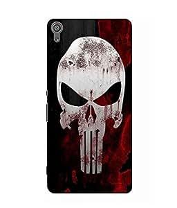 Make My Print Skull Printed Black Hard Back Cover For Sony Xperia XA Dual