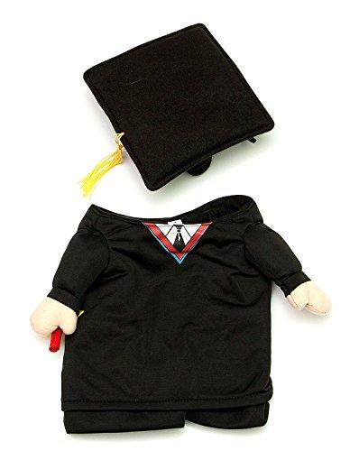Midlee Fake Arme Graduation Hund Kostüm (Kleine Hunde XS) (Kleine Hund Extra Halloween-kostüme)
