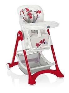 Chaise haute campione blanc rouge CAM