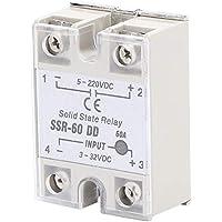 Relé de estado sólido, Relé de estado sólido de 60 A, Relé de estado sólido DC-DC SSR con interruptor sin contacto SSR60-DD de alta calidad 5-220VDC