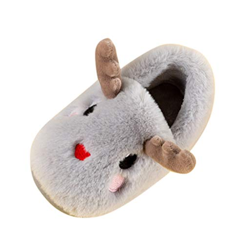 Toddler Infant Kids Baby Floor Home Slippers for 1-10 Years Old Girls Boys Cute Cartoon Animal Warm Flat Casual Non-Slip Back Wrap Shoes